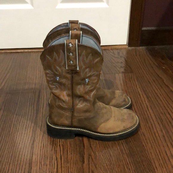 ed77eca6e7a Ariat Brown Western Roper Fatbaby boots size 7